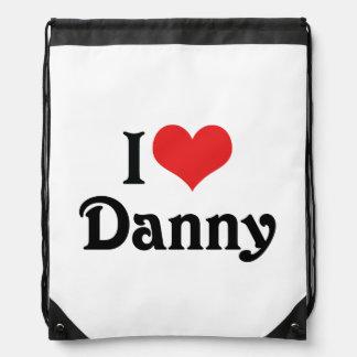 I Love Danny Drawstring Backpack
