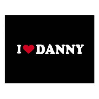 I LOVE DANNY POSTCARD