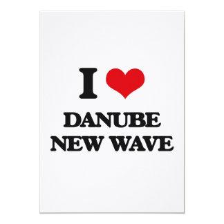 I Love DANUBE NEW WAVE 5x7 Paper Invitation Card
