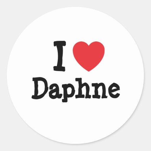 I love Daphne heart T-Shirt Sticker