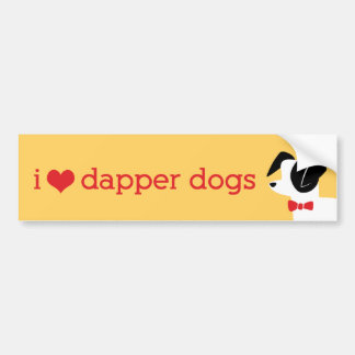 I Love Dapper Dogs Bumper Sticker