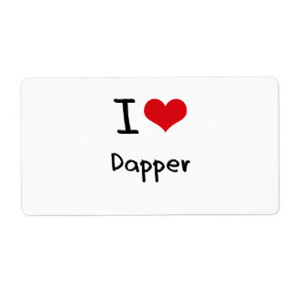 I Love Dapper Shipping Label
