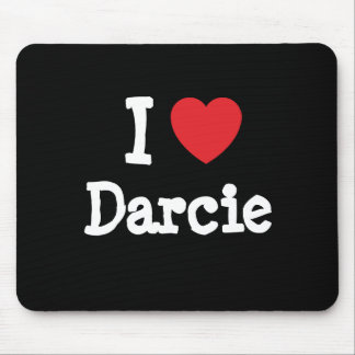 I love Darcie heart T-Shirt Mouse Pad