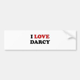 I Love Darcy Car Bumper Sticker