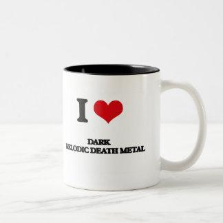 I Love DARK MELODIC DEATH METAL Two-Tone Coffee Mug