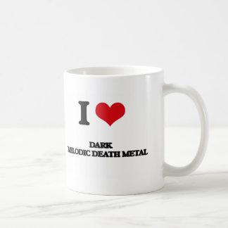 I Love DARK MELODIC DEATH METAL Classic White Coffee Mug