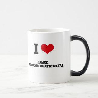 I Love DARK MELODIC DEATH METAL 11 Oz Magic Heat Color-Changing Coffee Mug