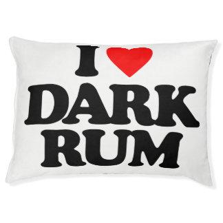 I LOVE DARK RUM DOG BED