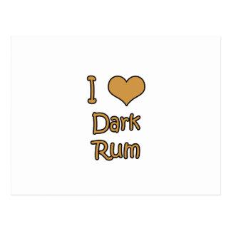 I Love Dark Rum Postcard