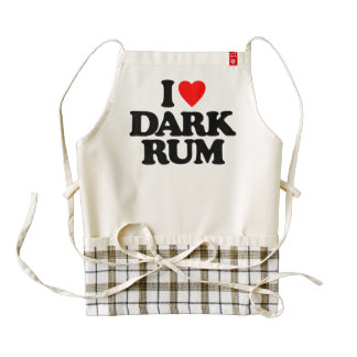 I LOVE DARK RUM ZAZZLE HEART APRON