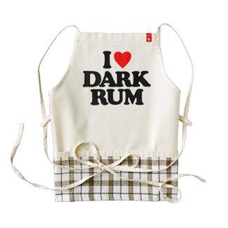 I LOVE DARK RUM ZAZZLE HEART APRON