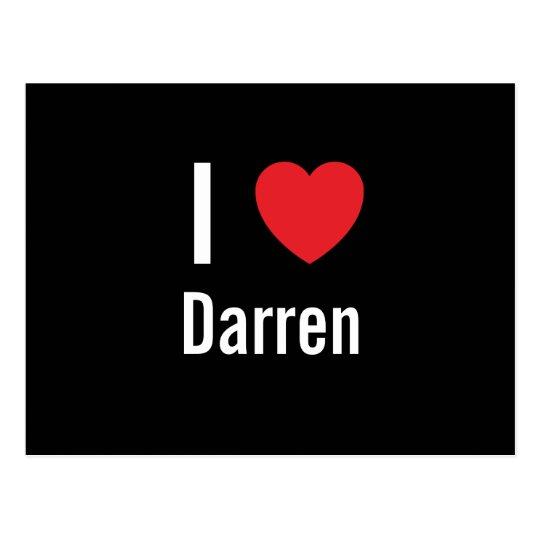 I love Darren Postcard
