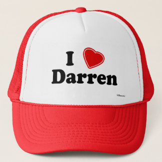 I Love Darren Trucker Hat