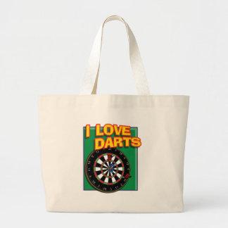 I LOVE DARTS CANVAS BAGS