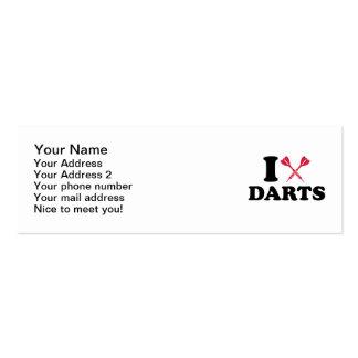 I love Darts Mini Business Card