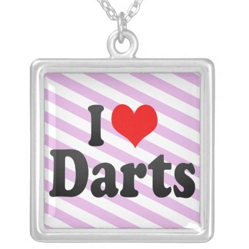 I love Darts Necklaces