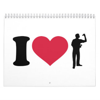 I love Darts player Calendar
