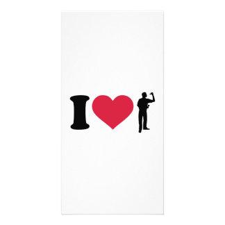 I love Darts player Photo Card