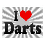 I love Darts Post Cards