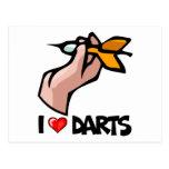 I Love Darts Postcard
