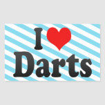 I love Darts Stickers