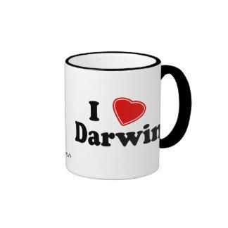 I Love Darwin Ringer Coffee Mug
