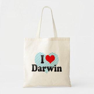 I love Darwin Tote Bags