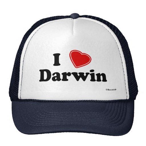 I Love Darwin Trucker Hats