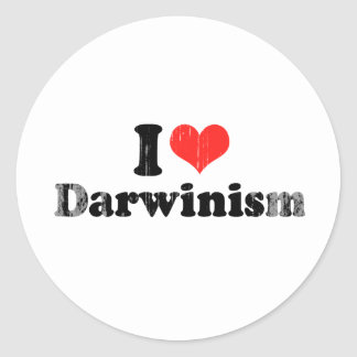I LOVE DARWINISM.png Stickers
