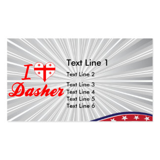 I Love Dasher, Georgia Double-Sided Standard Business Cards (Pack Of 100)