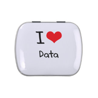 I Love Data Jelly Belly Candy Tin