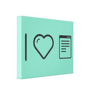 I Love Data Notepads Canvas Print