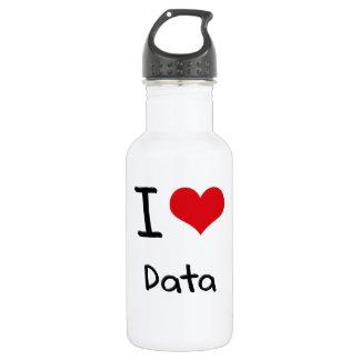 I Love Data 18oz Water Bottle