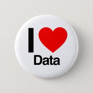 i love data pinback button
