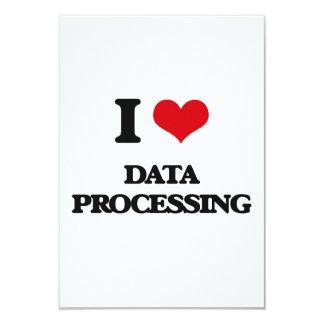 I love Data Processing 3.5x5 Paper Invitation Card