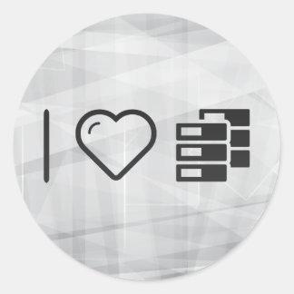 I Love Data Resizes Classic Round Sticker