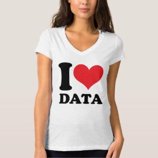 I Love Data T Shirt