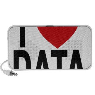 I Love Data White T-Shirt.png Portable Speaker