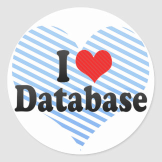 I Love Database Classic Round Sticker