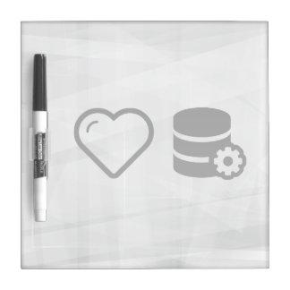 I Love Database Editors Dry-Erase Whiteboard