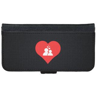 I Love Dating Design iPhone 6 Wallet Case