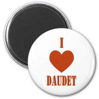 I Love Daudet 2 Inch Round Magnet