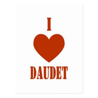 I Love Daudet Postcard