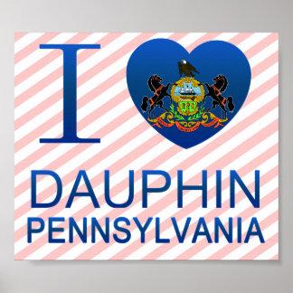 I Love Dauphin, PA Print