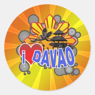 I Love Davao Classic Round Sticker