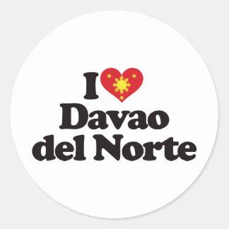 I Love Davao del Norte Classic Round Sticker