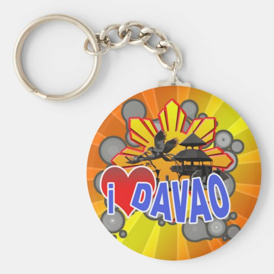 I Love Davao Keychain