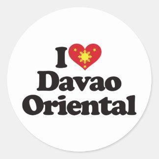I Love Davao Oriental Classic Round Sticker