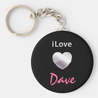 I Love Dave Keychains