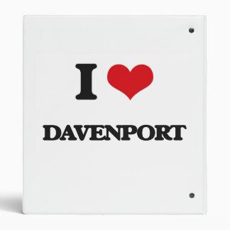 I Love Davenport Vinyl Binders